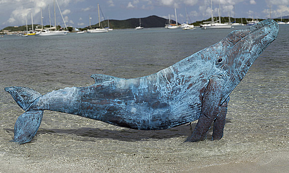 Copper Whale On The Beach