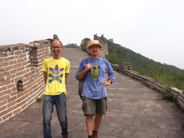 Aragorn And Wu Walking The Great Wall Of China